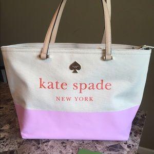 Kate Spade NY Francis Lott Street Canvas Pink Tote